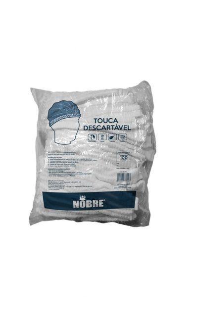 Touca-Descartável-Branca-TNT-c.100und-Nobre